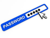 Password field. Internet security concept. Royalty Free Stock Photography