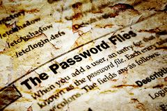 The password files Royalty Free Stock Image
