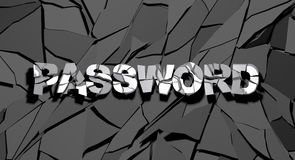 Password hacked 3d Royalty Free Stock Photos