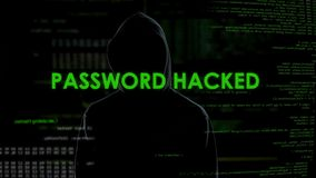 Password hacked to crack email, security of correspondence, leakage of data stock video