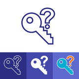 Password Hint Icon with Question Mark. Icon for those who have forgotten their passwords Stock Photography