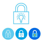 Password Hint Icon with Question Mark. Icon for those who have forgotten their passwords Royalty Free Stock Photography