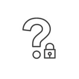 Password Hint Icon with Question Mark. Icon for those who have forgotten their passwords Stock Image