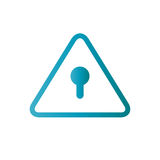 Password Hint Icon with Question Mark. Icon for those who have forgotten their passwords Royalty Free Stock Photo