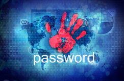 Password. Internet personal security concept stock illustration