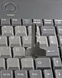 Password key on computer keyboard Stock Images