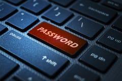 Password keyword on keyboard. Password keyword concept on computer keyboard technology background macro shot royalty free illustration