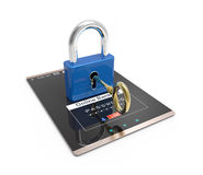 Password and login, shopping, banking operation on digital tablet. Stock Photography