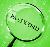 Password Magnifier Means Log In And Account Royalty Free Stock Photo