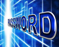 Password Passwords Indicates Log In And Accessible Stock Photo