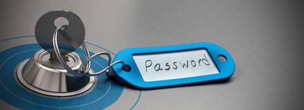 Password protected, internet security Royalty Free Stock Images