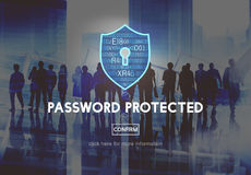 Password Protected Network Security Protection Concept Royalty Free Stock Image