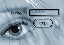 Password protection Royalty Free Stock Photo