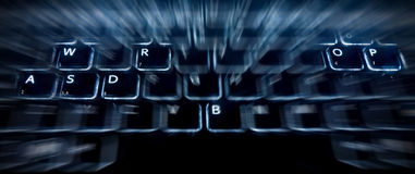 Password puzzle on the keyboard Stock Photo