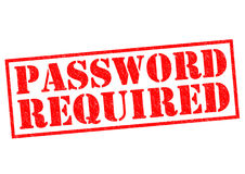 PASSWORD REQUIRED Royalty Free Stock Images