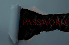 Password reveal Royalty Free Stock Image