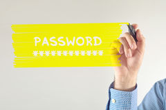 Password revealing Stock Photo