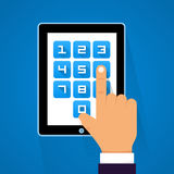 Password screen device Royalty Free Stock Images