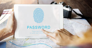 Password Security Accessible Login Concept Stock Image