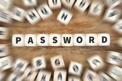 Password security computer protect data protection dice business Stock Photos