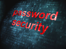Password Security on digital background Royalty Free Stock Image