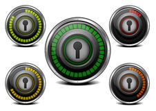 Password security meter Royalty Free Stock Photography