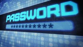 Password text in pixel design stock video
