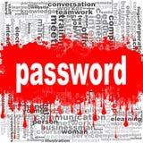 Password word cloud Stock Image