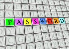 Passwort-Fliesen vektor abbildung