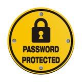 Passwort geschützt - Kreiszeichen Stockfoto