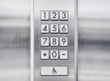 Passwortcode Sicherheits-Tastatursystemschutz Stockbild