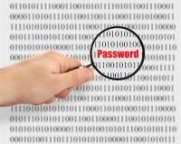 Passwortknacken lizenzfreie stockbilder
