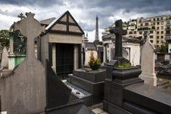 Passy kyrkogård i Paris Royaltyfria Bilder