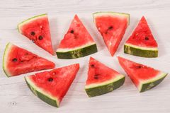 Pastèque contenant des vitamines et des minerais, dessert sain Photo stock