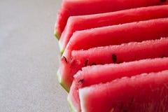 Pastèque coupée en tranches V Image stock