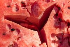 Pastèque criquée Nourriture végétarienne naturelle Photo stock