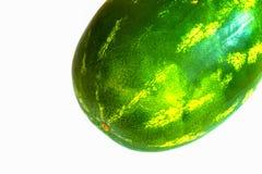 Pastèque d'isolement sur le fond blanc fruit frais de pastèque Image stock