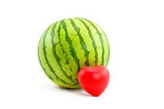 pastèque de coeur Image stock
