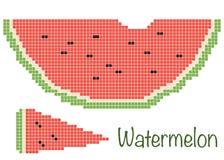 Pastèque de pixel illustration de vecteur