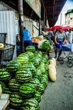 Pastèque du marché de Kirgizstan Images stock