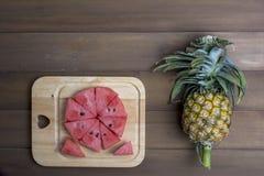 Pastèque et ananas Photographie stock libre de droits
