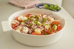 Pastèque et salade de feta Photos stock