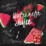 Pastèque Juice Blackboard 02 A illustration libre de droits