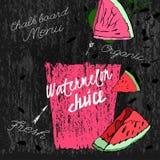 Pastèque Juice Blackboard 01 A illustration stock