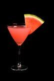 Pastèque martini Photographie stock libre de droits