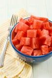 Pastèque rouge fraîche pour le déjeuner Images stock