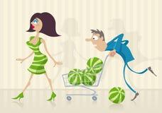 Pastèques - qui est meilleur illustration libre de droits