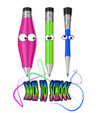 Pastéis coloridos dos desenhos animados. ilustração royalty free