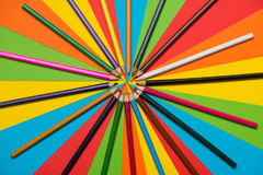 Pastéis coloridos Muitos lápis coloridos diferentes Imagem de Stock Royalty Free