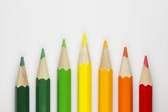 Pastéis conceptuais como cores da etiqueta da energia Imagens de Stock